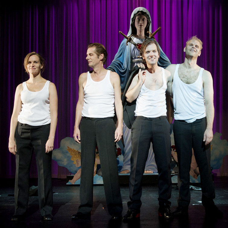 Theater Aachen, Faust 1+2, Goethe, Katja Zinsmeister, Tim Knapper, Karsten Meyer, Benedikt Voellmy, Foto: Manthei