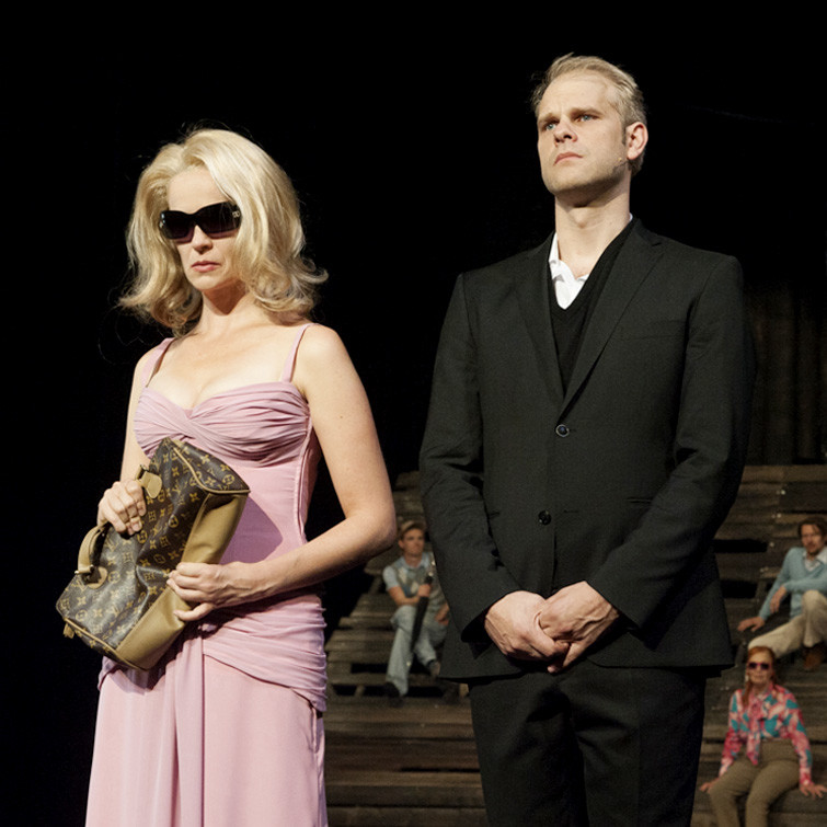 Theater Aachen: Faust 1+2, Goethe, Helena, Faust, Katja Zinsmeister, Tim Knapper, Foto: Manthei