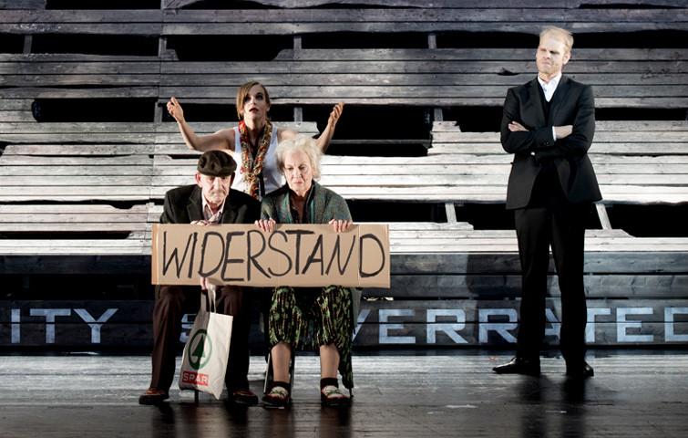 Theater Aachen, Faust 1+2, Katja Zinsmeister, Tim Knapper, Elisabeth Ebeling