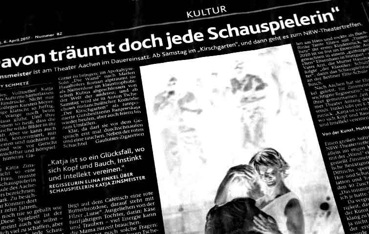 jenny Schmetz, Aachener Nachrichten, Katja Zinsmeister